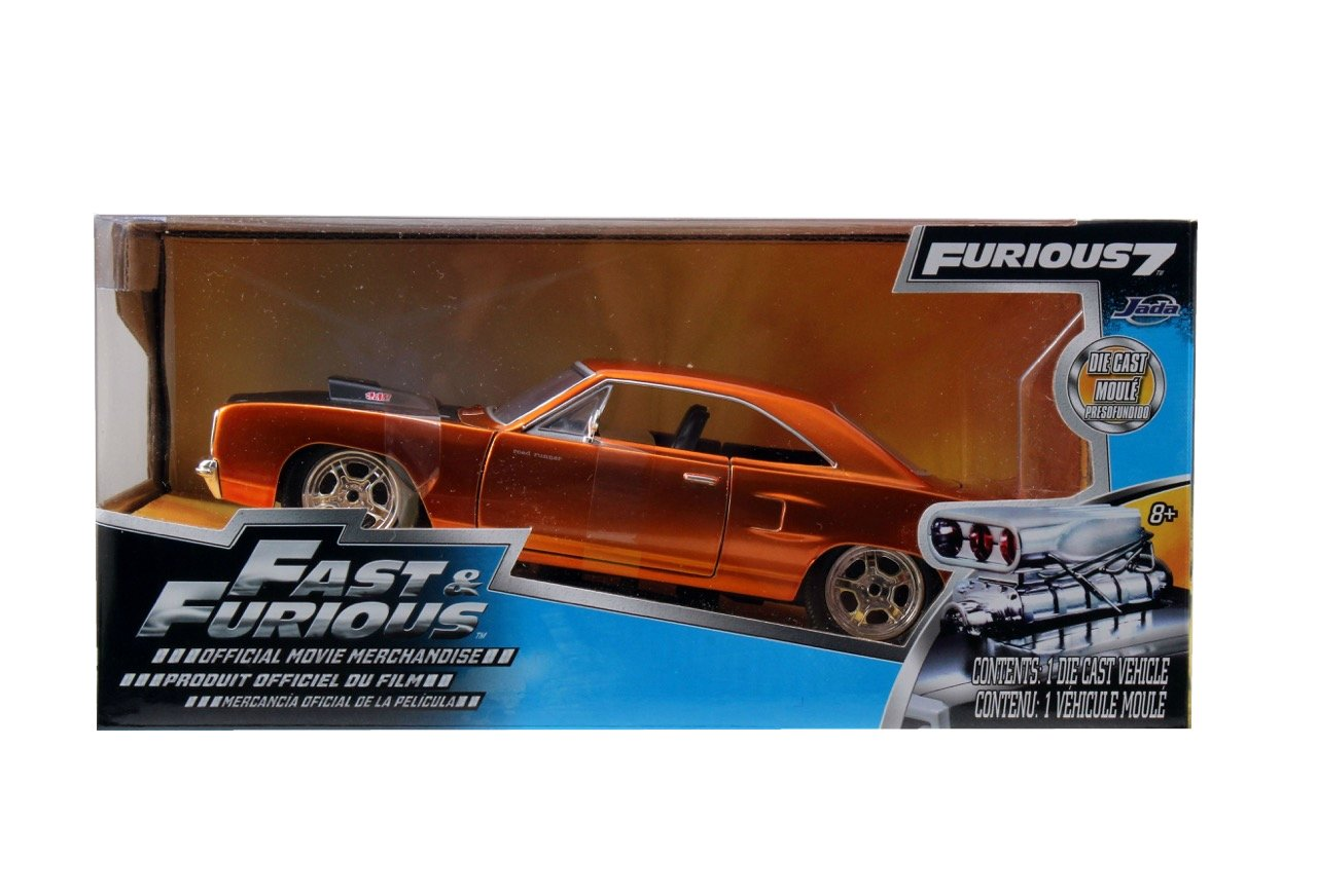 Dom's 1970 Plymouth Road Runner Copper Fast & Furious 7 Movie 1/24 by Jada 97126 летняя шина cordiant road runner ps 1 185 65 r14 86h