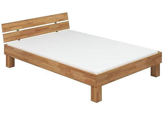 Moderno letto/futon 160x200 in Faggio Eco laccato con assi di legno e materasso 60.80-16 M