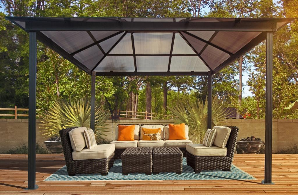Amazon.com : STC Madrid Gazebo, 10 by 13-Feet : Pergola : Patio, Lawn