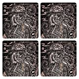 Posterboy The Alien Mahakavi Kalidasa MDF Coaster Set, Set Of 4, 101mm, Multicolor