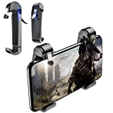 Newseego Mobile Game Controllers, L1R1 Aim Trigger Fire Buttons Shooter Sensitive, Portable Triggers for iOS & Android for Knives Out(A Pair) (Color: Black)