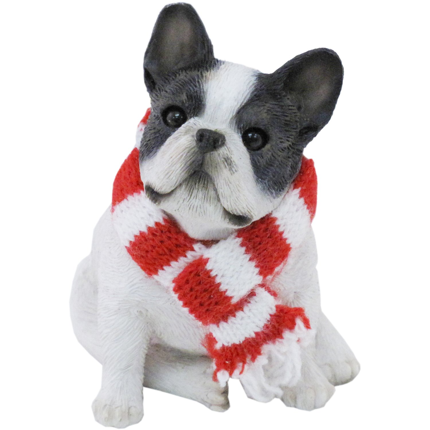French Bulldog with Scarf Ornament