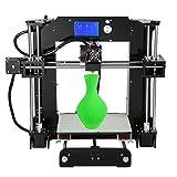 ALUNAR 3D Printer DIY Prusa I3 Kit Self-assembly Desktop FDM 1.75mm PLA 3D Pen Filament Heated Bed (A6 3D Printer) (Color: A6 3D Printer)