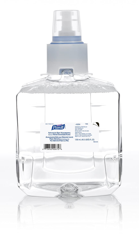 PURELL 1906-02 1200 mL Advanced Skin Nourishing Instant Hand Sanitizer Foam, LTX-12 Refill (Pack of 2)