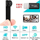WIFI Hidden Spy Camera, 1080P Spy Mini Camera Nanny Cam Home Security Covert Camera with Motion Detection (Color: b1)