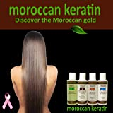 Moroccan Keratin Most Effective Brazilian Keratin Hair Treatment SET 120ML x4 Professional Salon Formula Shipping Available Worldwide (Tamaño: Value Set)