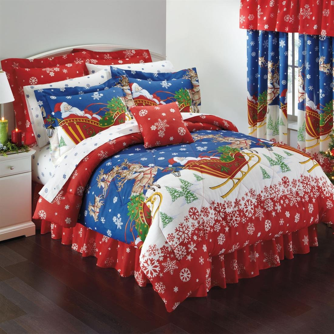 Bed Linens And More. UnbeatableSale. Mezzati. OctoRose LLC. See more retailers. Christmas Bedding Sets. Home. Bedding. Pickup Truck Filed with Ornament Cold December Weather Snowflakes Merry Christmas, Decorative 3 Piece Bedding Set with 2 Pillow Shams, Multicolor, by Ambesonne. Product Image. Price $