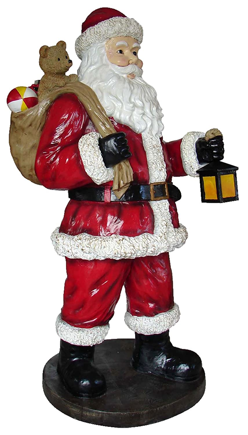 Large Life Size Santa Claus With Toy Bag