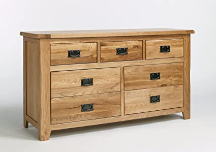 Westbury Reclaimed Oak 3 over 4 cassetti grandi petto