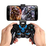 MOSTOP Bluetooth Controller with Clip Android Game Controller Wireless Gamepad for Android Phone/PC/Tablet with Clip and Bag (Color: Blue)