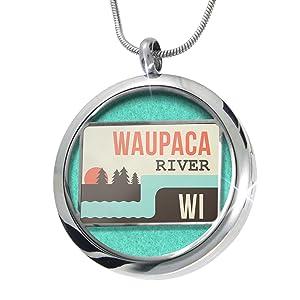 Waupaca River aromatherapy necklace