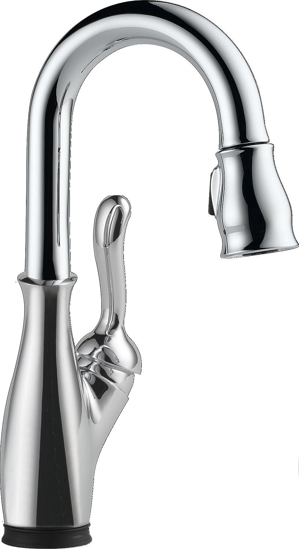 Delta Faucet 9678T-DST Leland Bar/Prep Faucet with Touch2O, Chrome