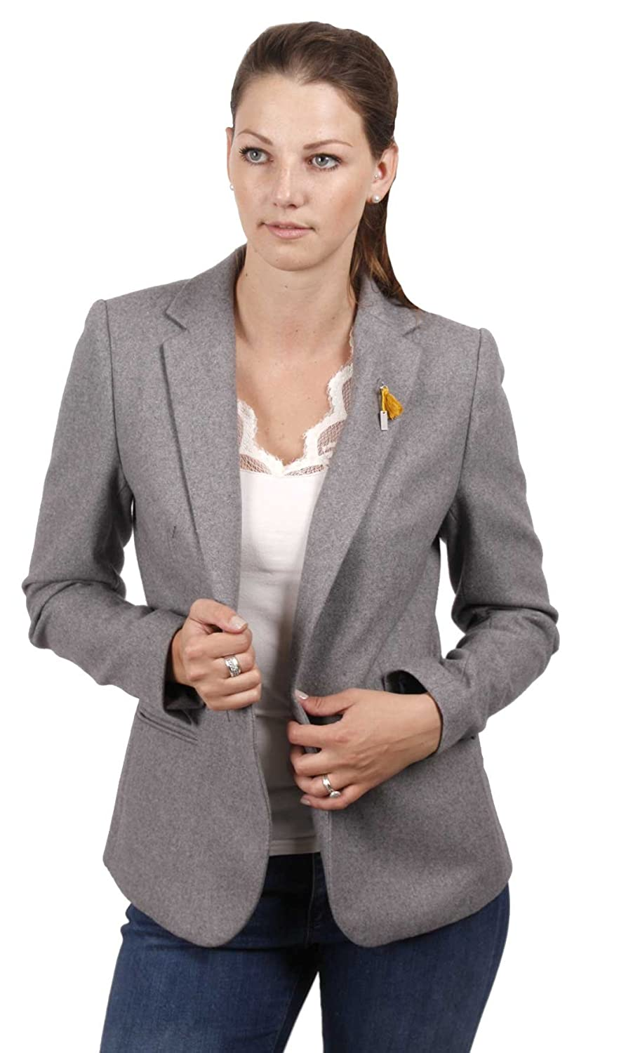 Maison Scotch Classic Wool Blazer grau