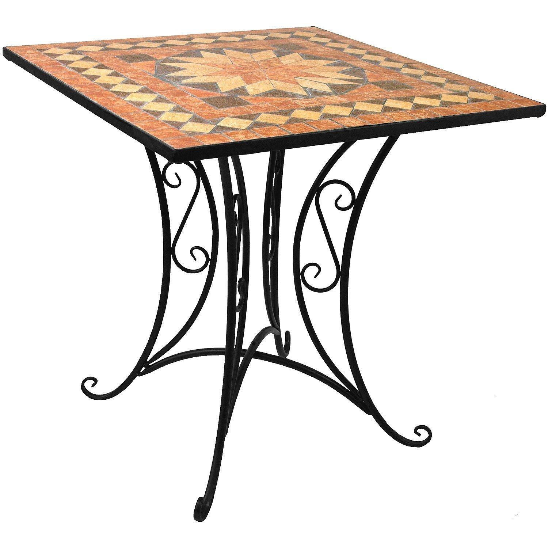Massiver Mosaik Gartentisch Mosaiktisch 70x70cm Gartenmöbel Balkonmöbel Steintisch günstig bestellen