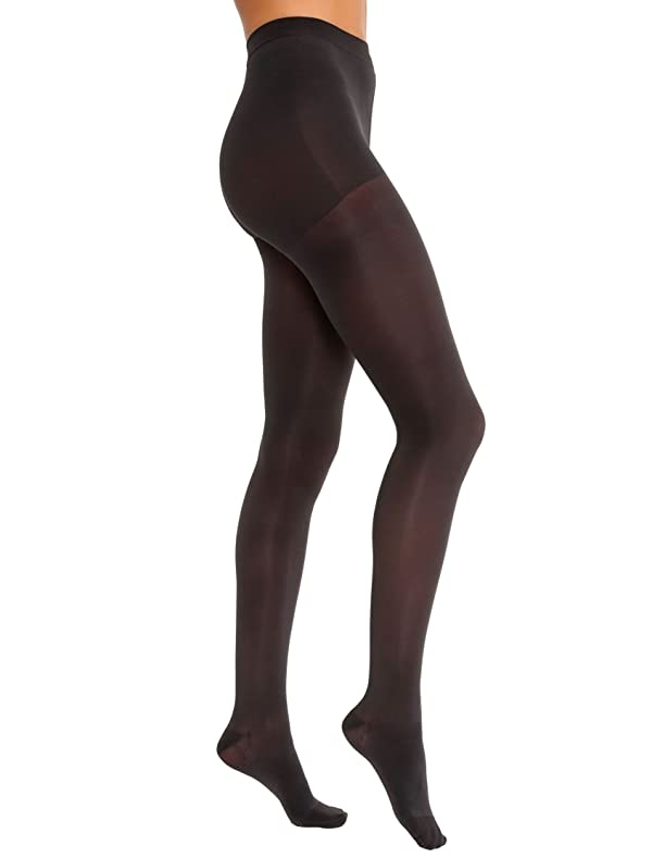JOBST Opaque Waist High 15-20 mmHg Compression Stockings Pantyhose, Closed Toe, X-Large, Classic Black (Color: Classic Black, Tamaño: X-Large)
