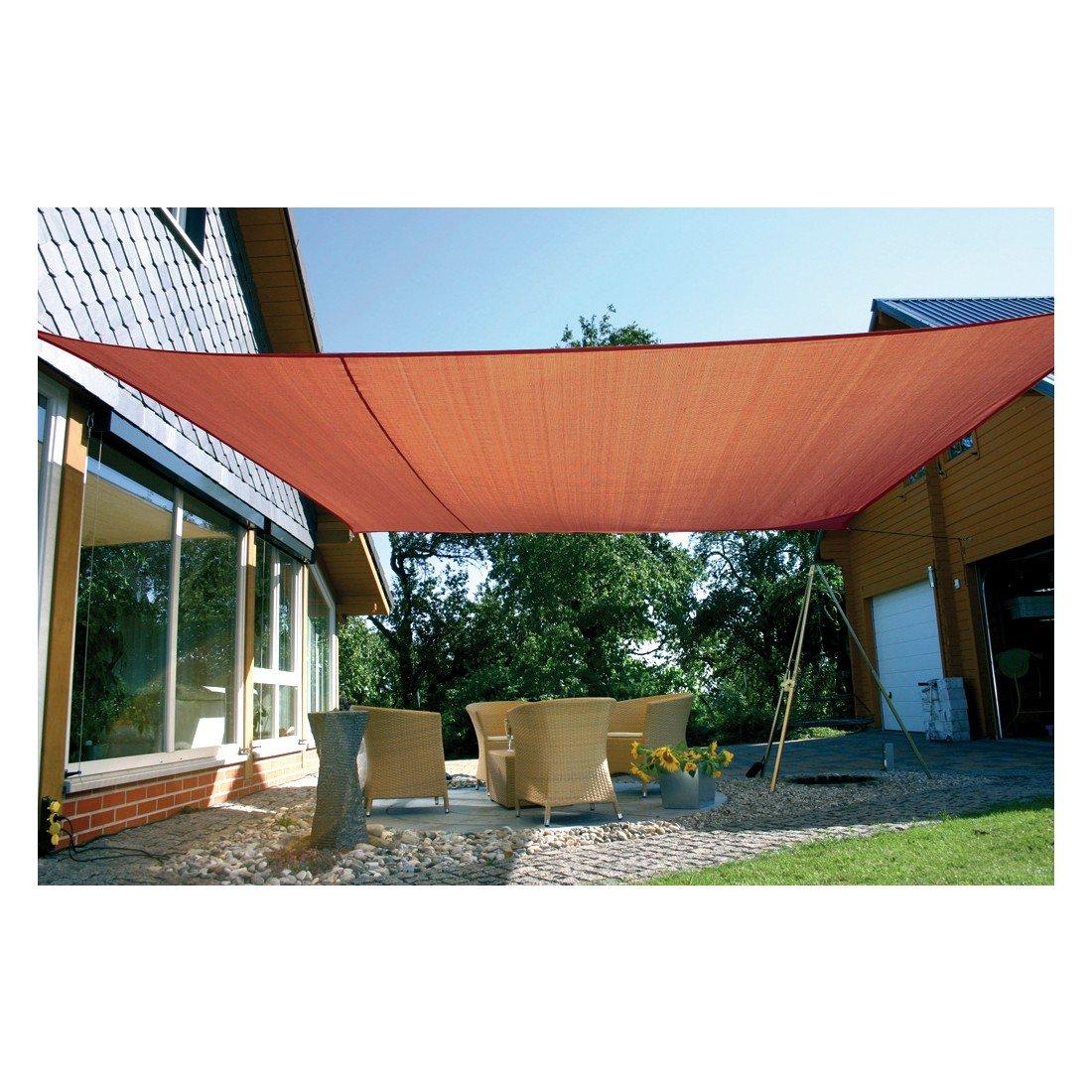 Eduplay Sonnenschutz Sonnensegel, 6x4m, Rechteck, rost günstig online kaufen