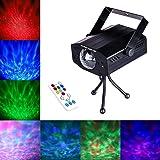 DuaFire Laser Lights, 7 Colors Led Stage Party Light Projector, Strobe Water Ripples Lighting for Wedding, Home Karaoke, Club, Bar, Disco and DJ (Color: Black)