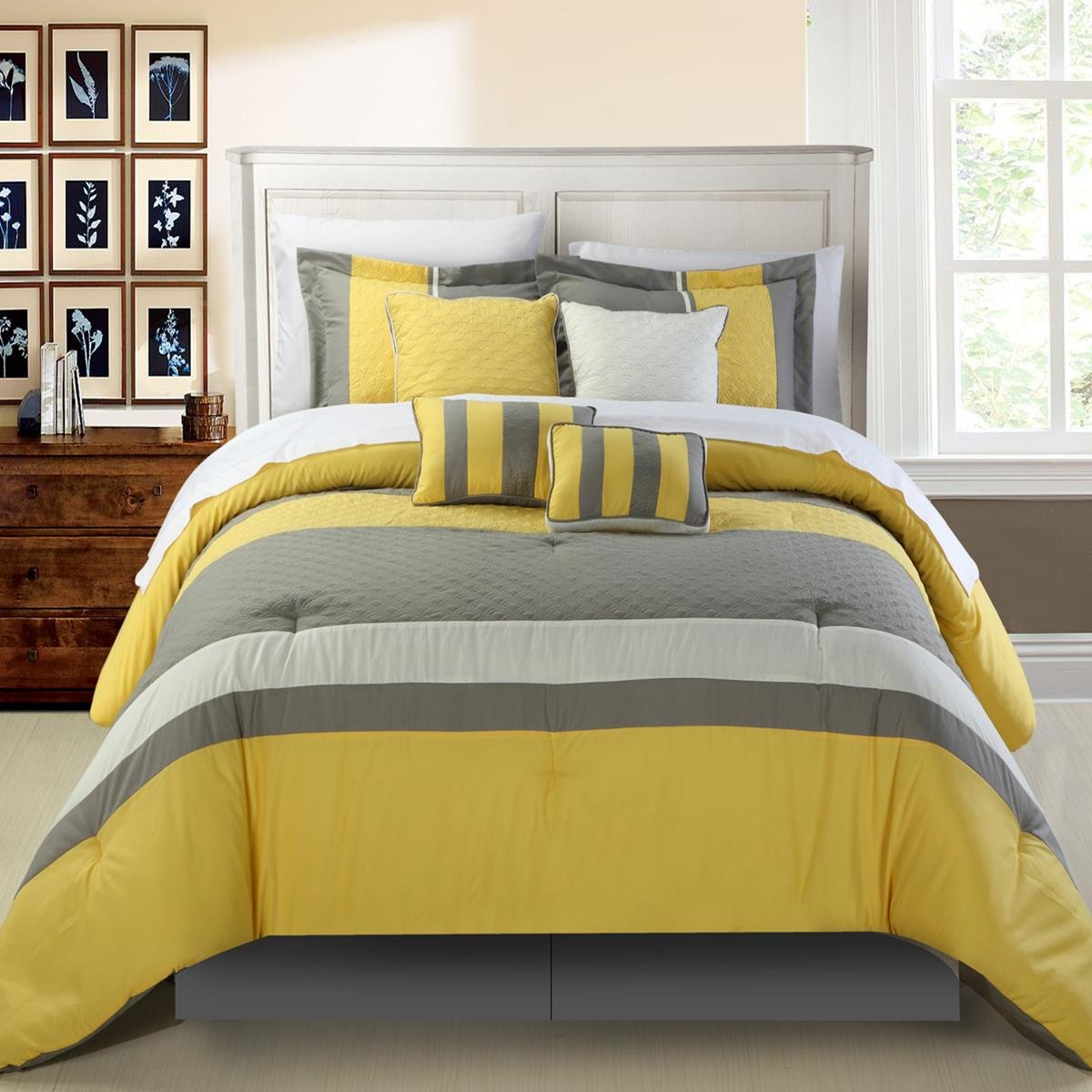 Gray And Yellow Bedroom: Yellow And Grey Bedding
