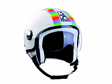 A-style 0600530L casque jet blanc/code/fluo/brillant