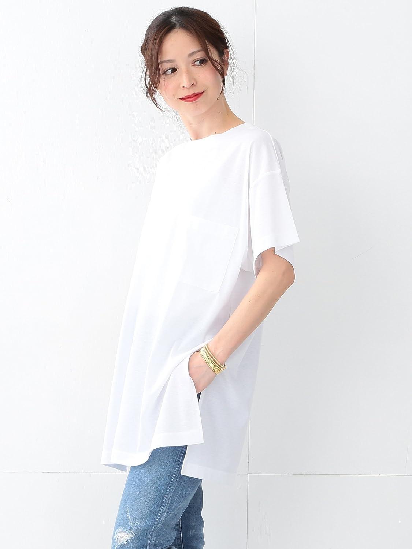 Amazon.co.jp: (デミルクスビームス) Demi-Luxe BEAMS / Tシャツ ロング ワンピース 68260330444 ONE SIZE ホワイト: 服&ファッション小物