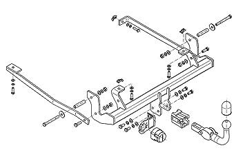 Für VW POLO 3//5-Tür 2001-2005 Anhängerkupplung starr E-SATZ 7 polig NEU ABE