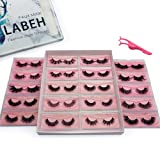 Labeh 100% Siberian Mink Fur 3D False Eyelash Dramatic Makeup 20 Different Styles Strip Lashes for Makeup(20pair/package) (Color: top mink lashes, Tamaño: #20 kinds)