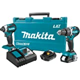 XT269R 2 Amp 18V Compact LXT Lithium-Ion Brushless Cordless Combo Kit (2 Piece) (Renewed) (Color: Blue)