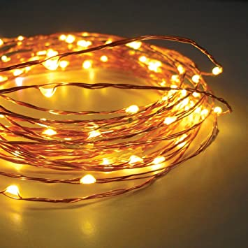 Starry String Lights 120 Warm White LEDs on