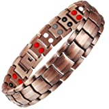 HOT TIME Double Row Pure Copper Magnetic Therapy Bracelet Pain Relief for Arthritis and Carpal Tunnel