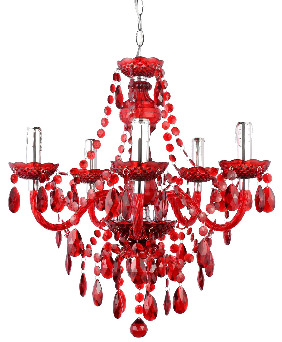 Pin lustre baroque rouge on pinterest for Lustre baroque blanc