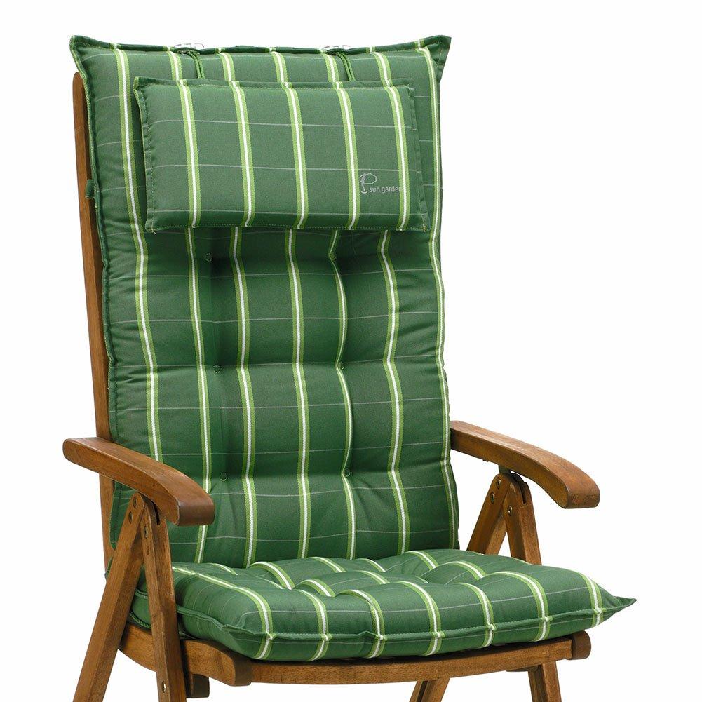 6 Auflagen für Hochlehner in grün gestreift Sun Garden Sylt 20426-200 online kaufen