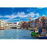LFEEY 10x7ft Venice Rialto Bridge Backdrop Europa Landmark Italy Romantic City View Water Transportation Grand Canal with Gondola Background for Photography Holiday Travel Wedding Photo Studio Prop (Color: GNBK09835, Tamaño: 10x7ft)