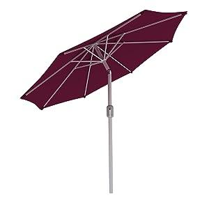 paramondo interpara Sonnenschirm 3, 5m (rund / weinrot) / Gestell (silber) Kundenbewertung und Beschreibung