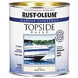 Rust-Oleum 207001 Marine Coatings Topside Paint, Quart, Oyster White (Color: Oyster White, Tamaño: 1 Quart)