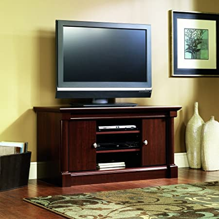Sauder Palladia Panel TV Stand, Select Cherry Finish