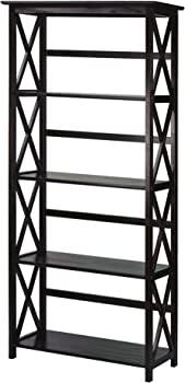 Casual Home 324-53 Montego 5-Tier Bookcase