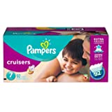 Branded Pampers Cruisers Diapers Economy Pack - Diaper Size 7 - 92 Ct. ( Weight 41+ Lb.) (Bulk Qty at Whoesale Price, Genuine & Soft Baby diaper)