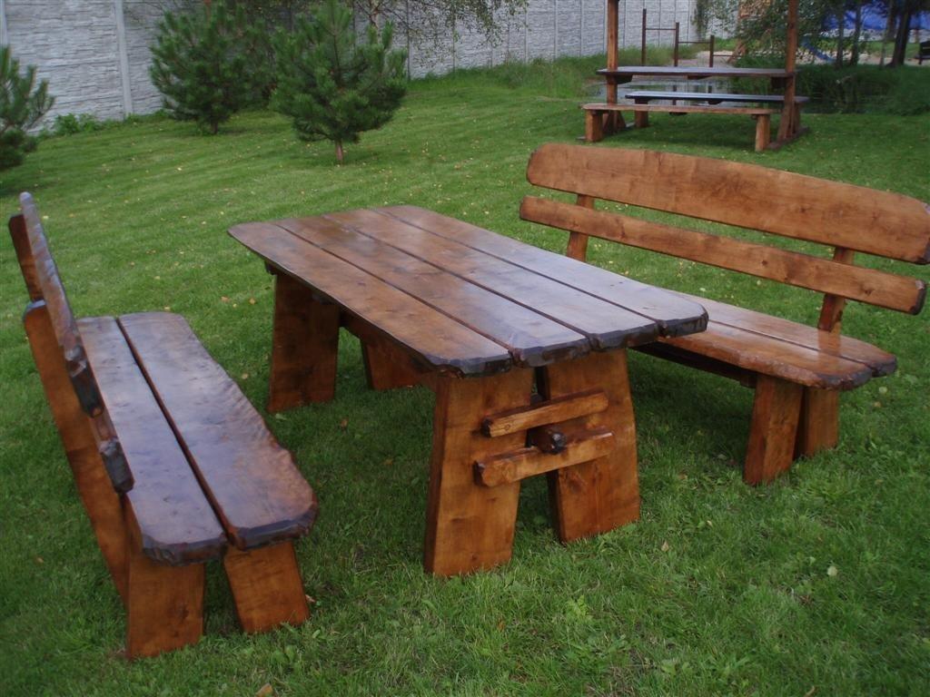 Timberline Sitzgruppe Natura XL 200 cm rustikal Outdoor Gartenmöbel, Farbe:natur geölt;Material:Birke