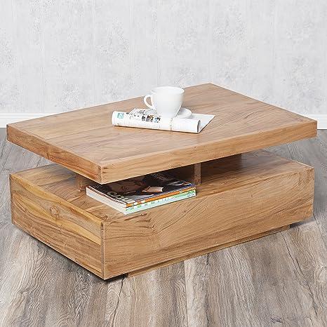Couchtisch KARIM Stone-n 90x60cm Massivholz Tisch Sofatisch Wohnzimmer