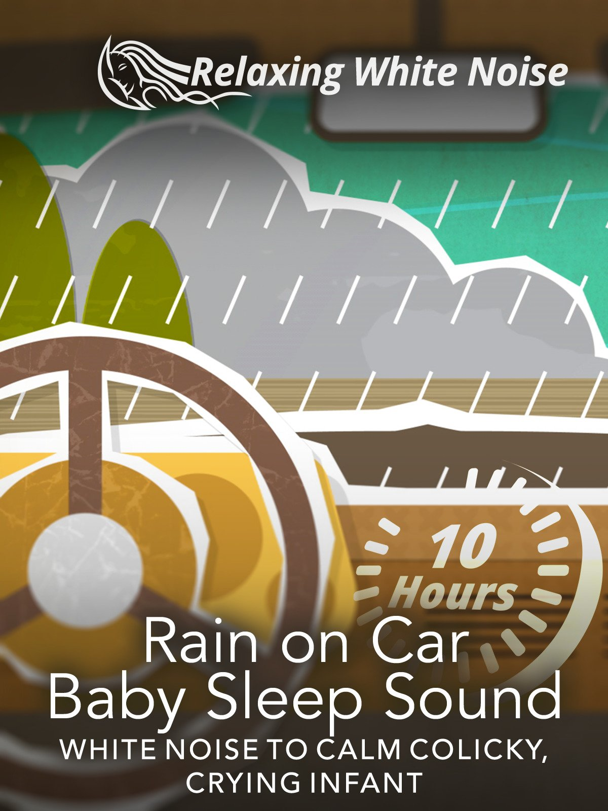 Rain on Car Baby Sleep Sound 10 Hours
