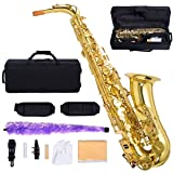 Costzon New Professional Alto Eb Sax Saxophone Gold with Other Accessories
