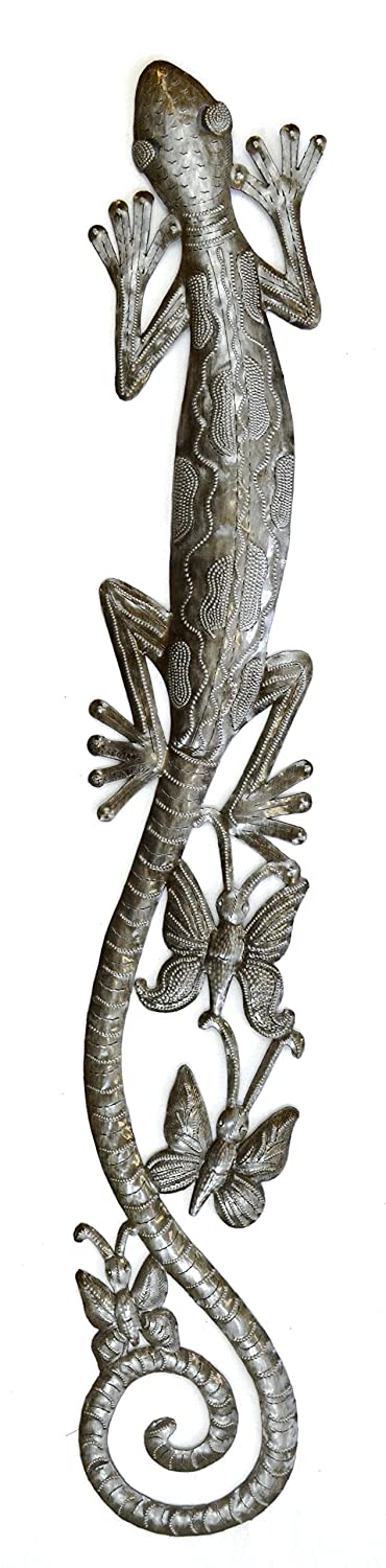 H and-crafted from cast-off 55 gallon steel drums artists in Haiti follow four generations of tradition in metal sculpture. The artist first visualizes his ...  sc 1 st  Metal Wall Art Decorations & Gecko Wall Decor Ideas: Gecko Metal Wall Art