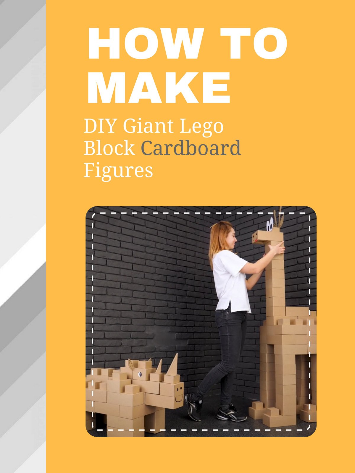 How To DIY Giant Lego Block Cardboard Figures