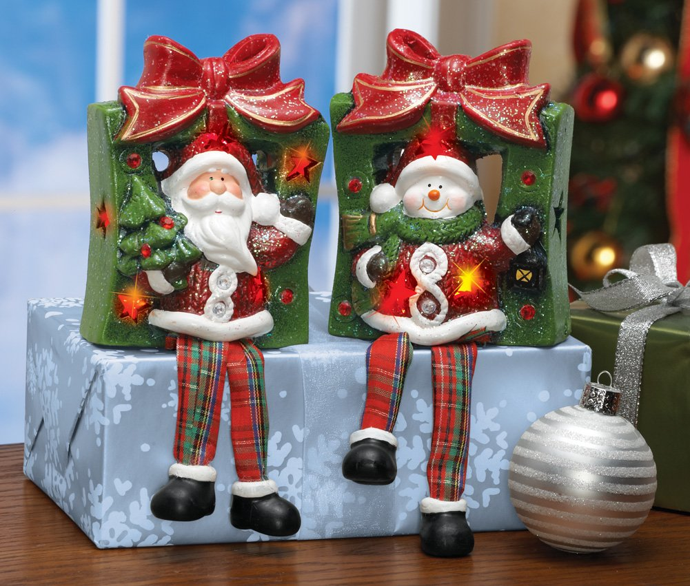 Lighted Holiday Dangle Buddy Sitters