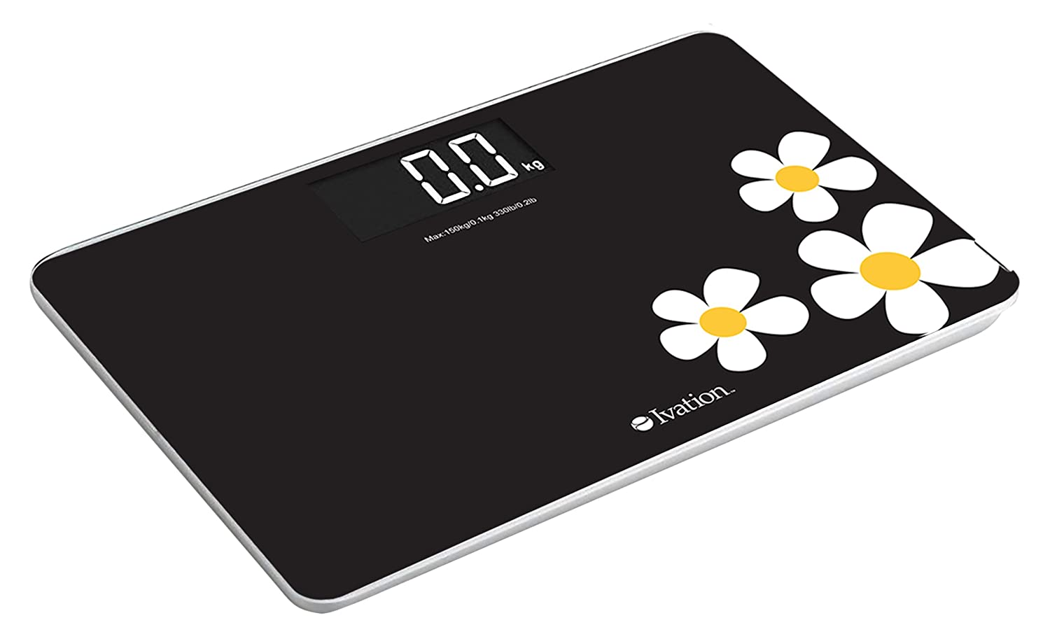 Ivation IVABG1003FL Premium Glass Ultra Thin Bathroom Scale