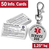 Service Dog Tag Information Cards - 1.25