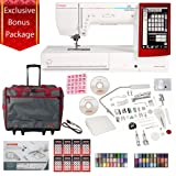Janome Memory Craft 14000 Sewing and Embroidery Machine with Exclusive Bundle (Color: white, Tamaño: white, red)