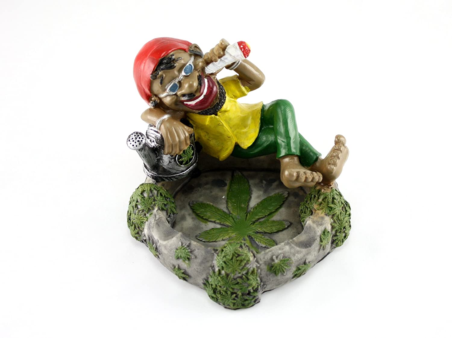 Skyway Jamaican Ashtray Chilling Man Smoking