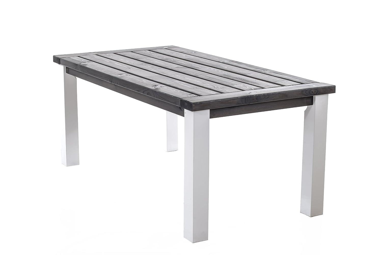 GARDENho.me Esstisch MARIHAMN Tisch Weiß/Taupegrau, ca. 175 x 90 x 75 cm günstig kaufen