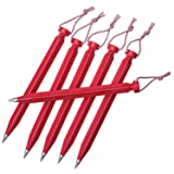 MSR Dart 6-Pack Tent Stake, 6-Inch (Color: Red, Tamaño: 6in)
